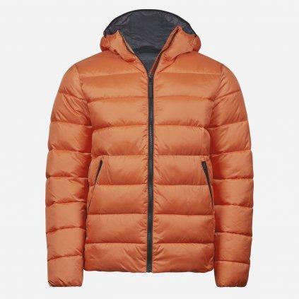 Oranžová zateplená bunda