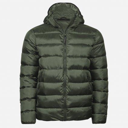 Zelená zateplená bunda