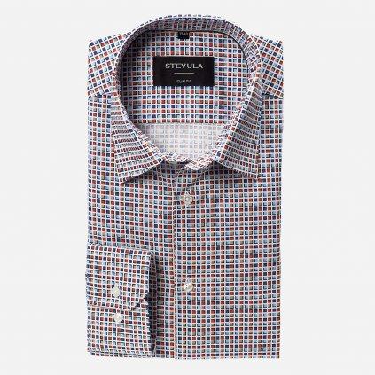 Farebná kockovaná košeľa, Slim fit