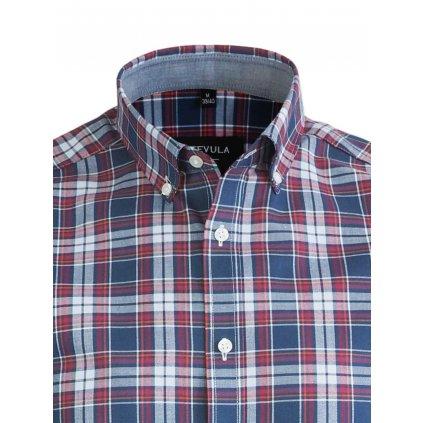 Károvaná pánska košeľa, Slim fit