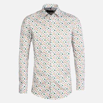 Summer fruit print pánska košeľa, Slim fit