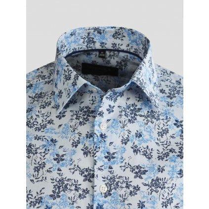 Floral print pánska košeľa, Slim fit