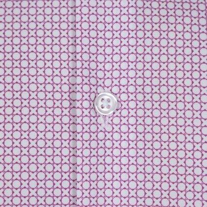 Tic-tac-toe print pánska košeľa, Slim fit