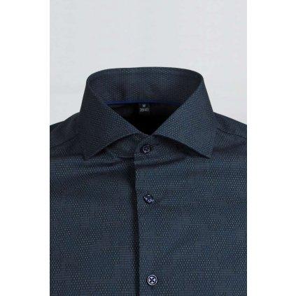 Binary print pánska košeľa, Slim fit