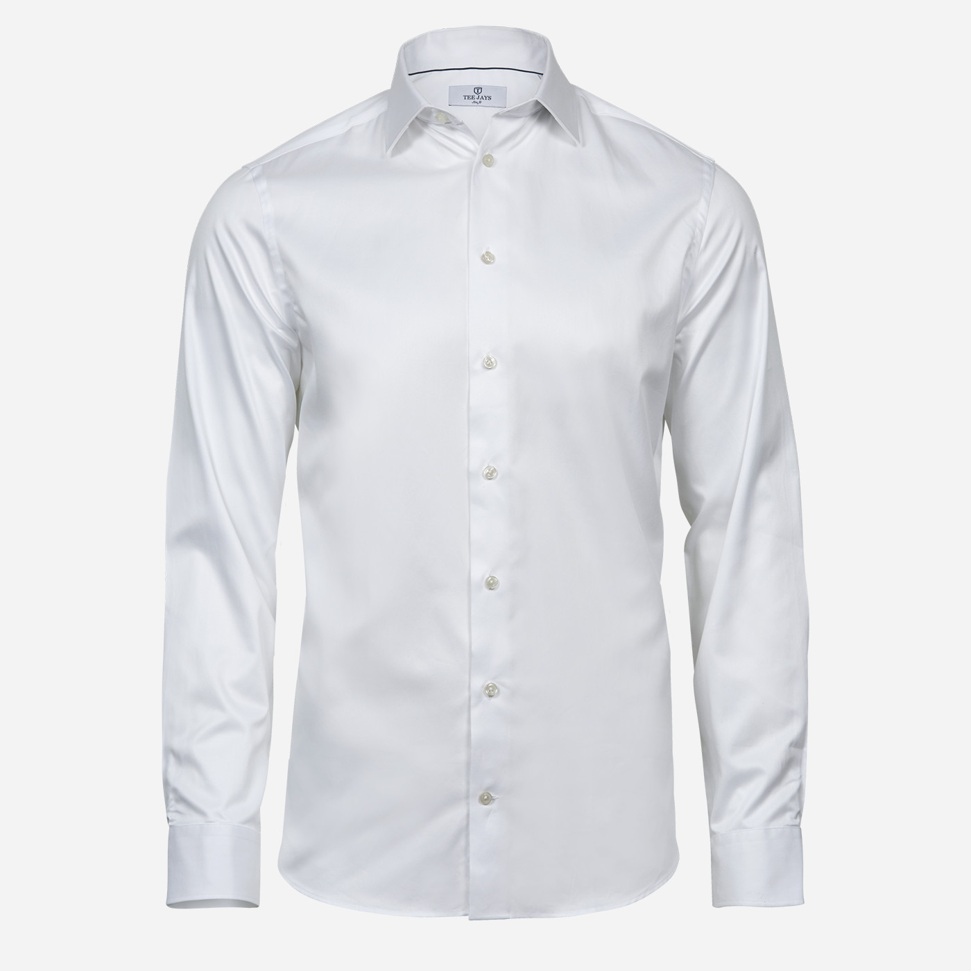Biela pánska košeľa Tee Jays, Slim fit Veľkosť: XXL 45/46