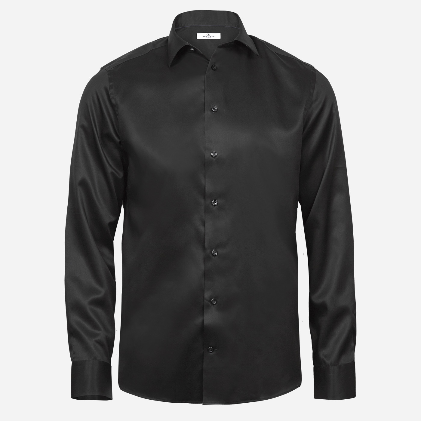 Čierna košeľa Tee Jays, 2-ply, Regular fit Veľkosť: XXL 45/46