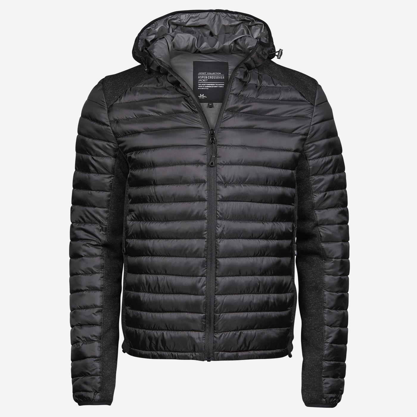 Tee Jays Čierna kombinovaná bunda Veľkosť: S