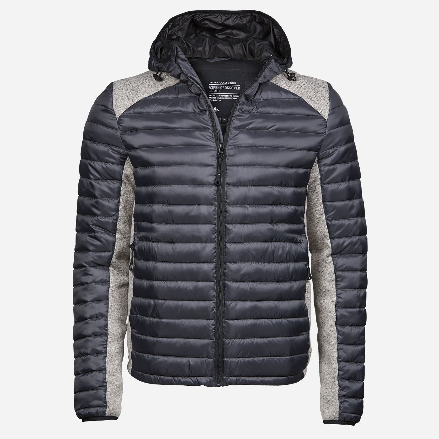 Tee Jays Sivá kombinovaná bunda Veľkosť: S