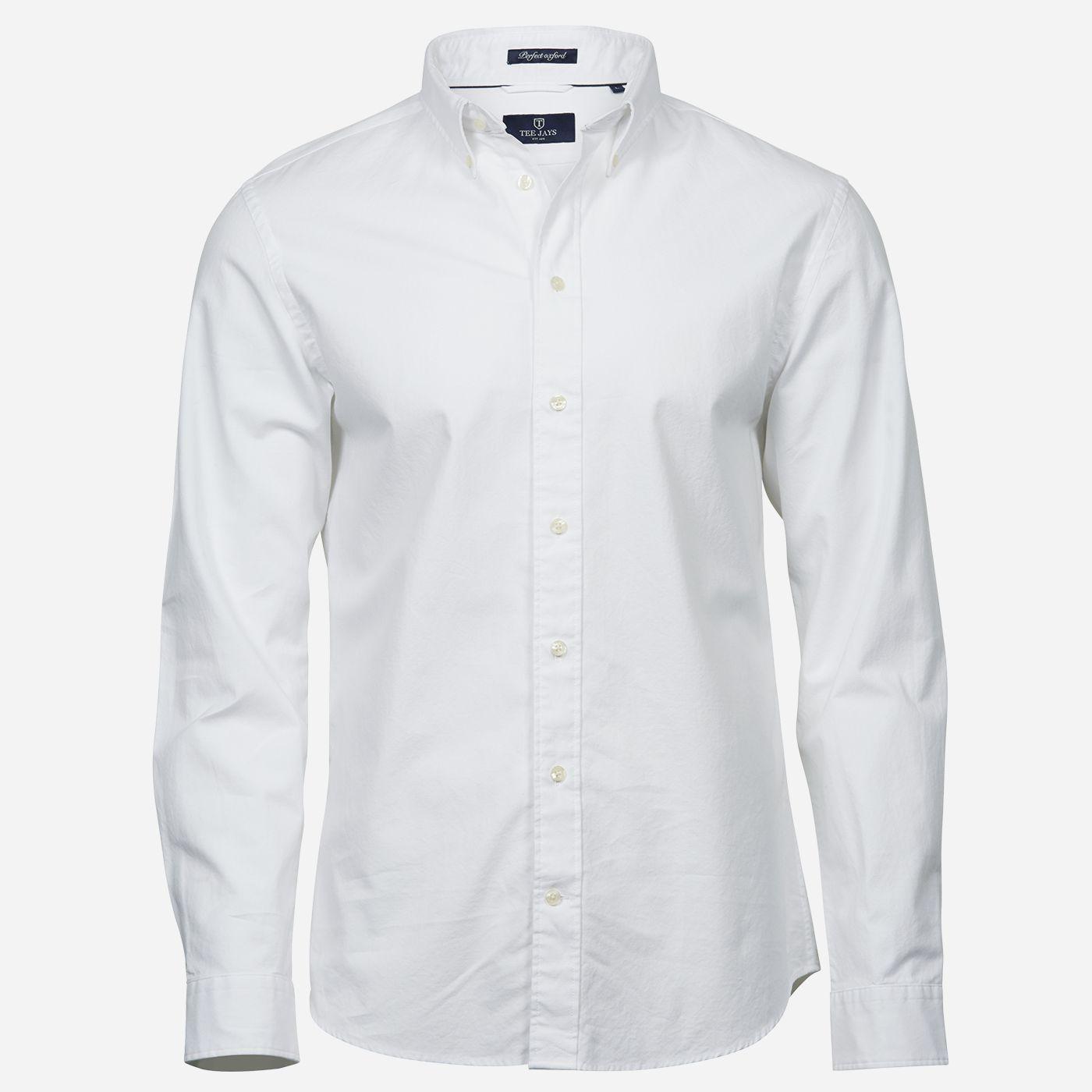 Biela oxford košeľa Tee Jays, Slim fit Veľkosť: XXL 45/46