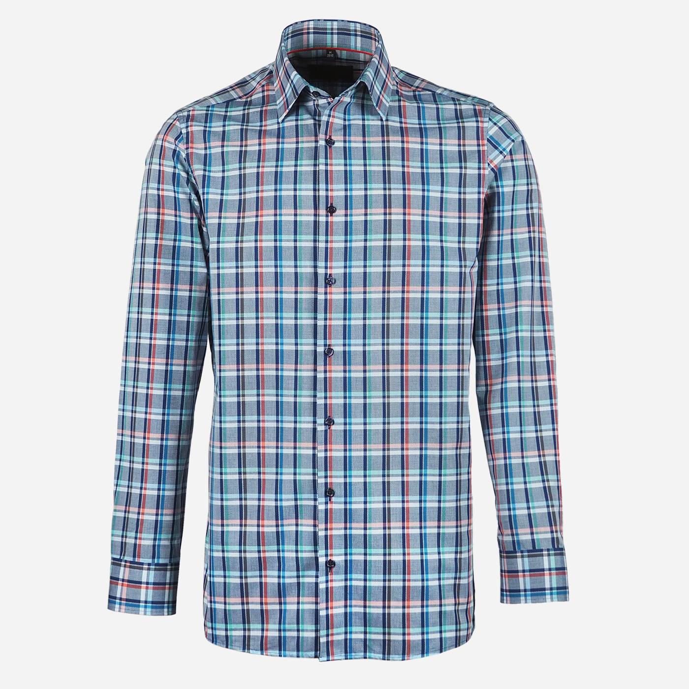 STEVULA Károvaná pánska košeľa, Regular fit Veľkosť: XXL 45/46