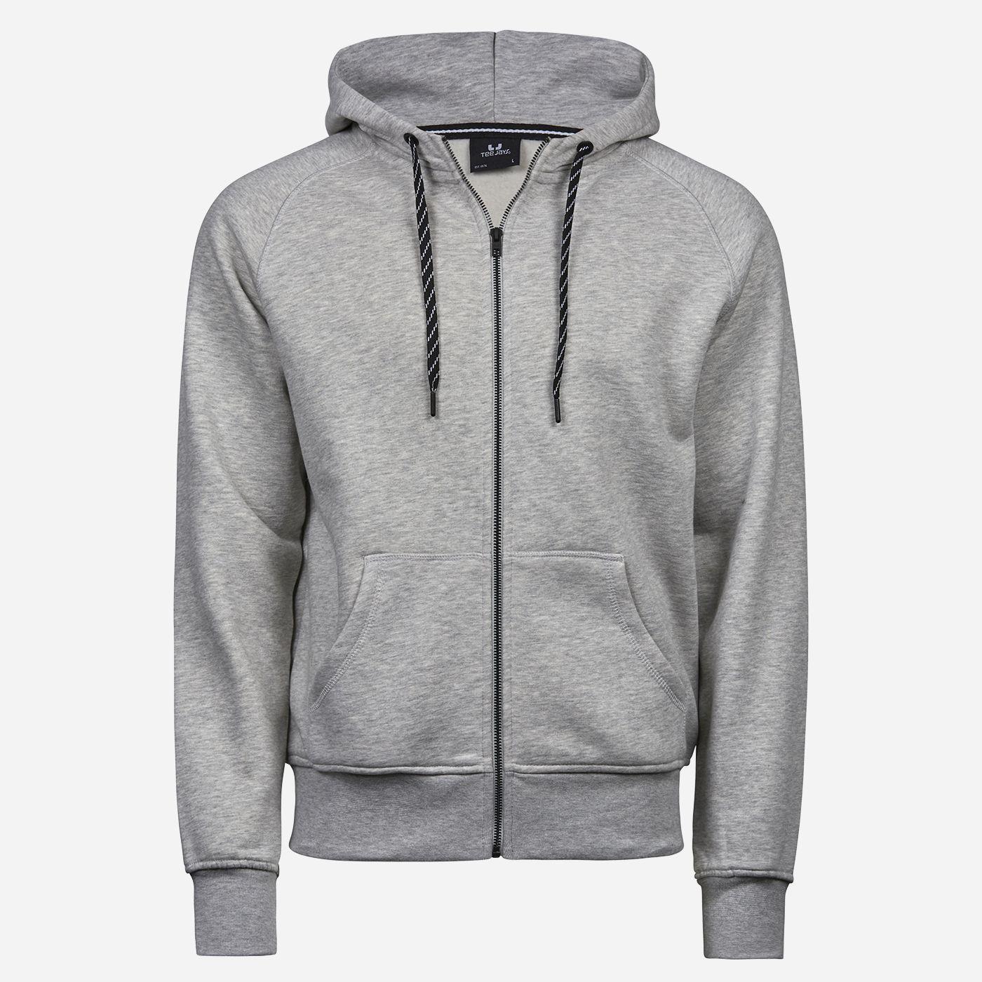 Tee Jays Sivá mikina - Egyptská bavlna Veľkosť: M