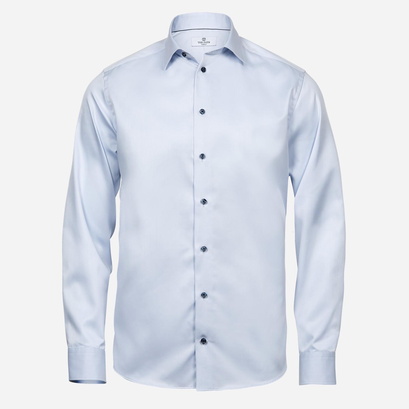 Svetlomodrá košeľa Tee Jays, 2-ply, Regular fit Veľkosť: XXL 45/46