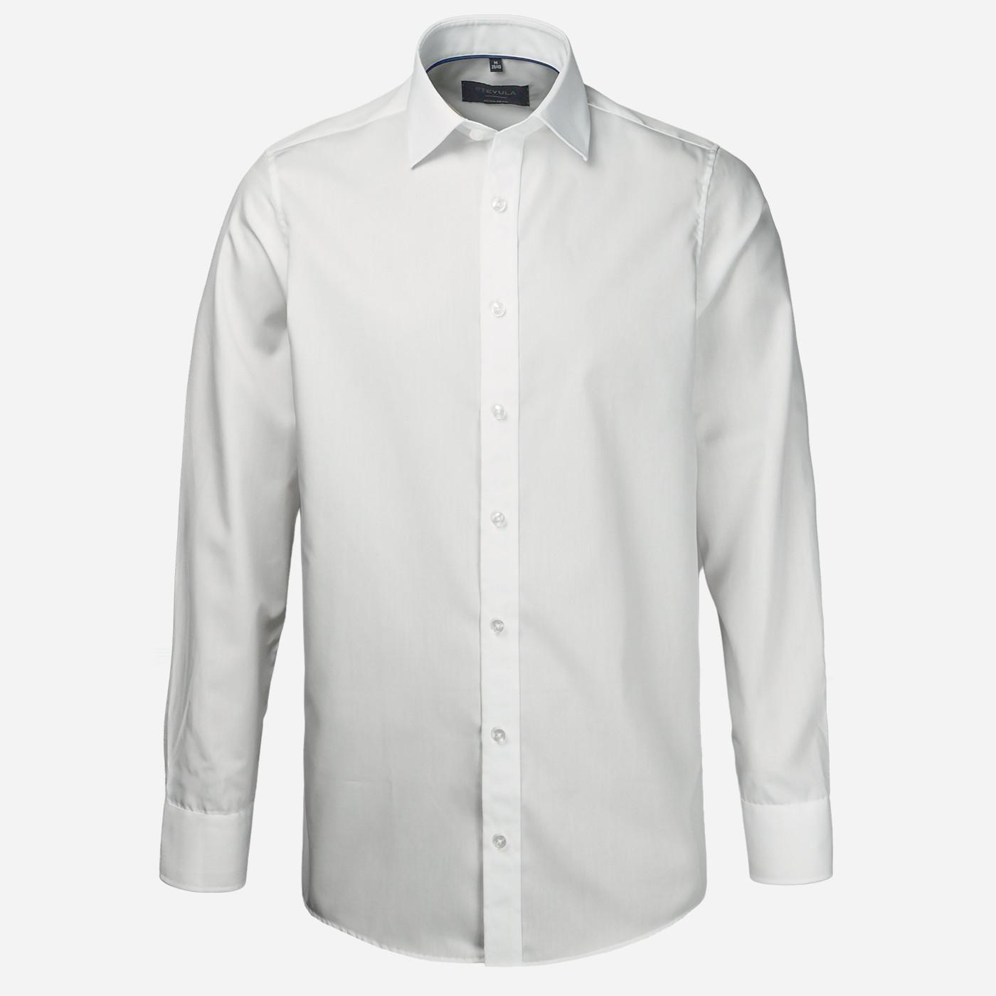 STEVULA Biela pánska košeľa, Regular fit Veľkosť: XXL 45/46