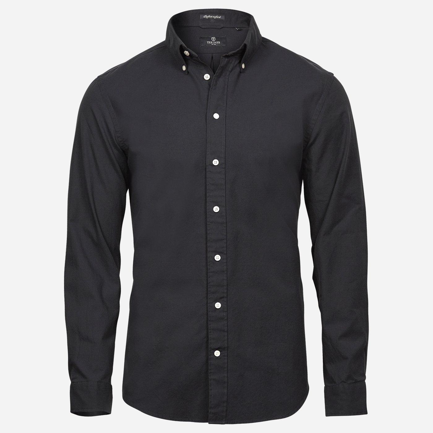 Čierna oxford košeľa Tee Jays, Slim fit Veľkosť: XXL 45/46