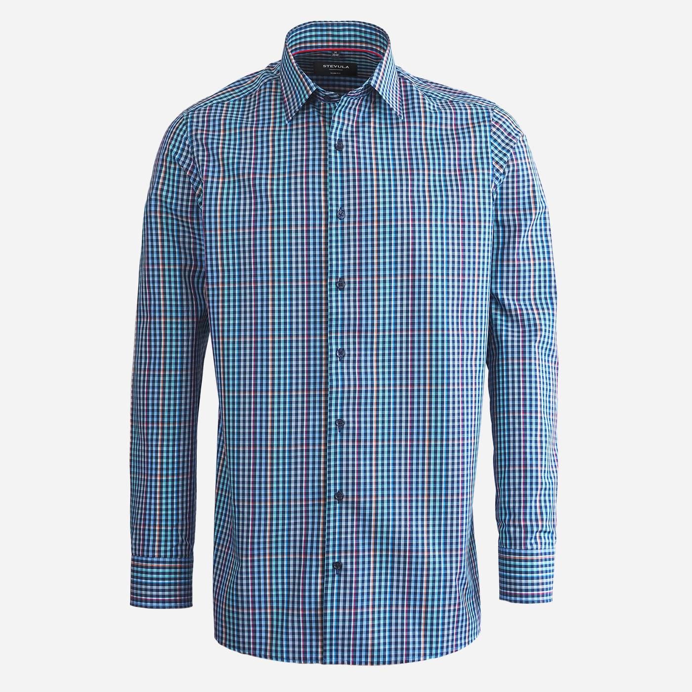 STEVULA Kockovaná pánska košeľa, Regular fit Veľkosť: XXL 45/46
