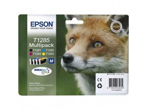 Epson T1285 CMYK Multipack Ink Cartridges C13T12854012