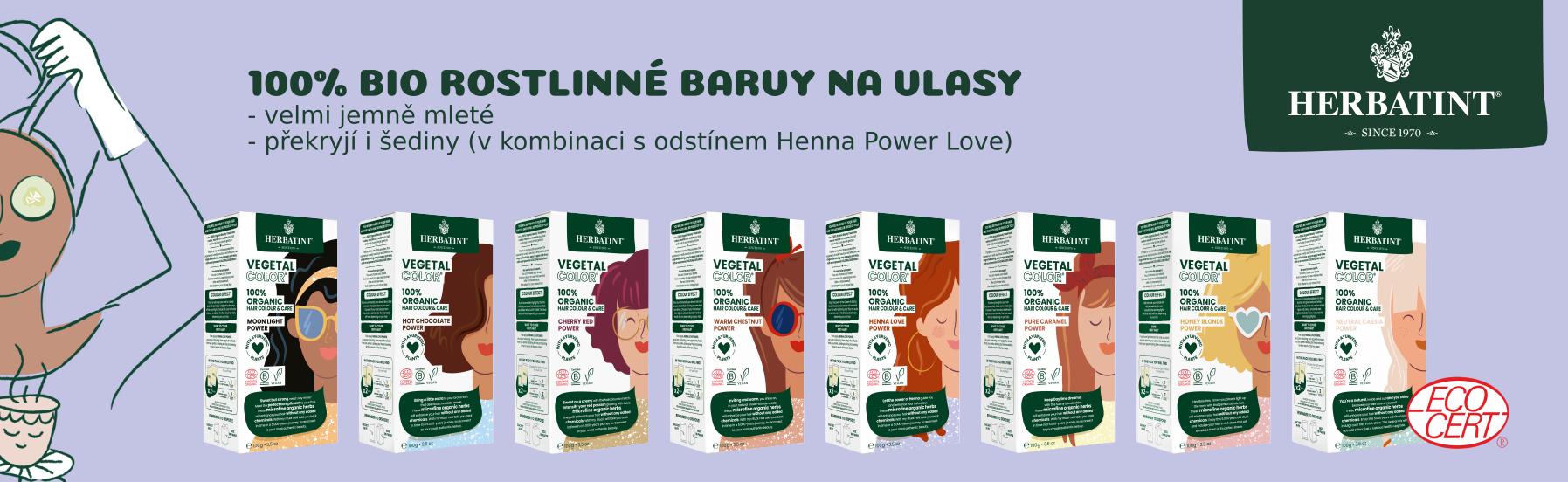 Herbatint Vegetal přírodní barvy na vlasy