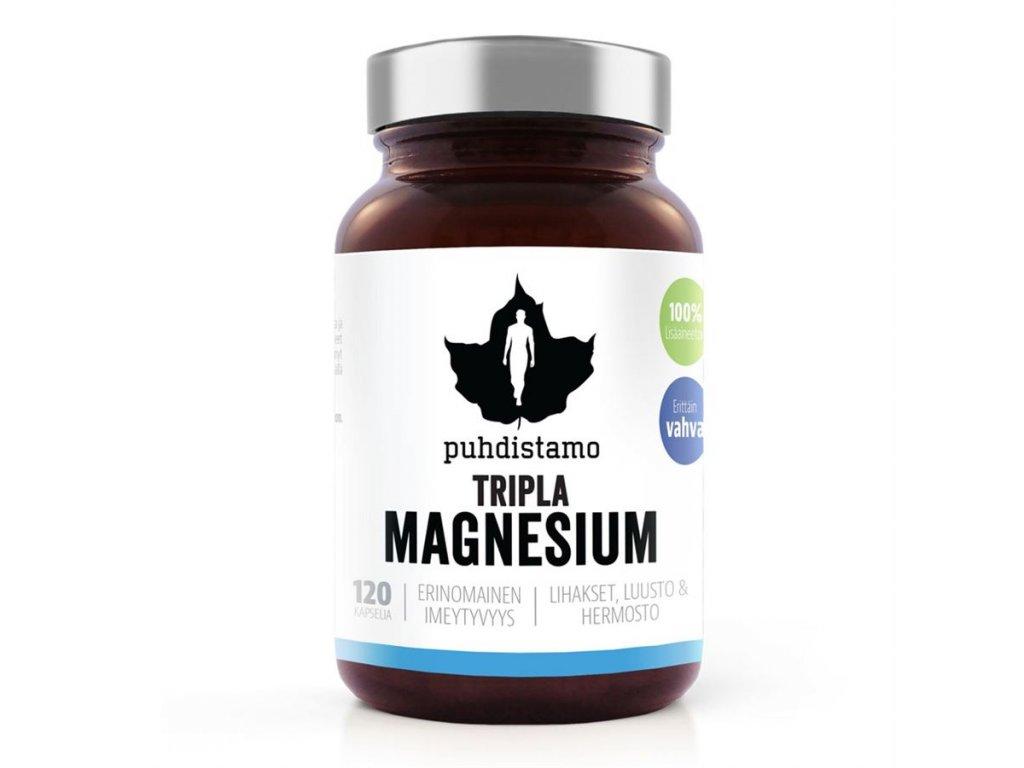 Puhdistamo Triple Magnesium, 120 kapslí (Hořčík)