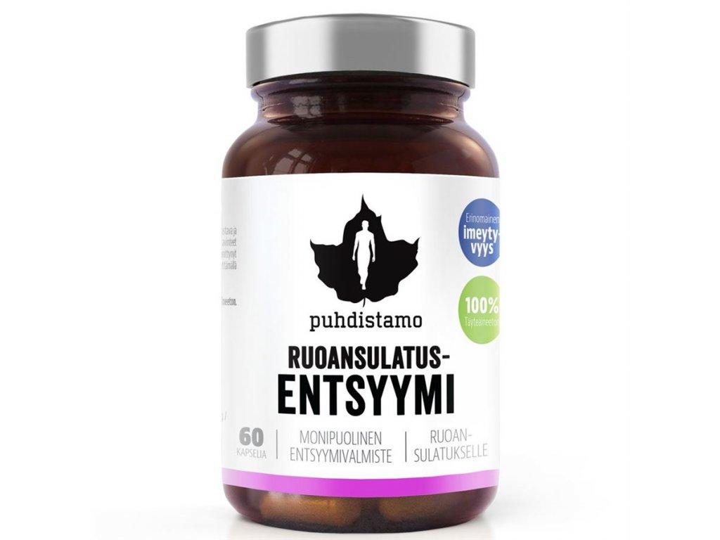 Puhdistamo Digestive Enzymes, 60 kapslí (Trávicí enzymy)
