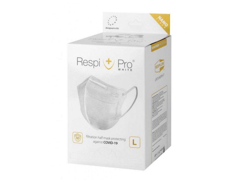 Respilon Nano respirátor RespiPro White, velikost L, 50ks