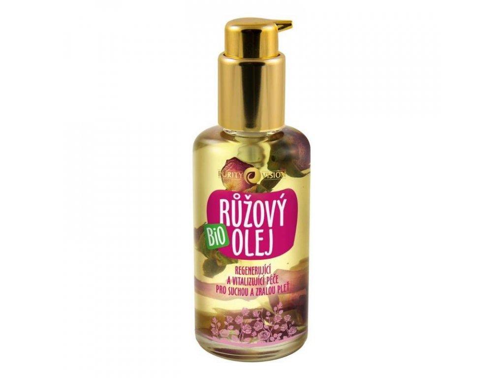 Purity Vision Bio růžový olej, 100ml - česká přírodní bio kosmetika