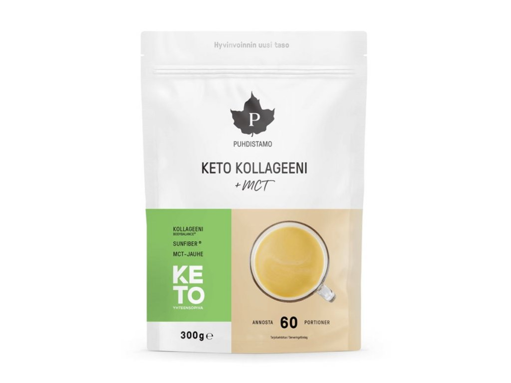 Puhdistamo Keto Collagen + MCT 300g (keto kolagen)