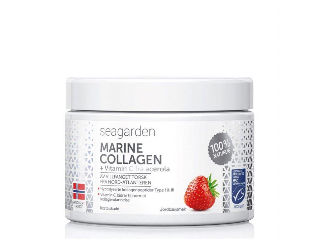 Seagarden Marine Collagen + Vitamin C 150g jahoda - rybí kolagen