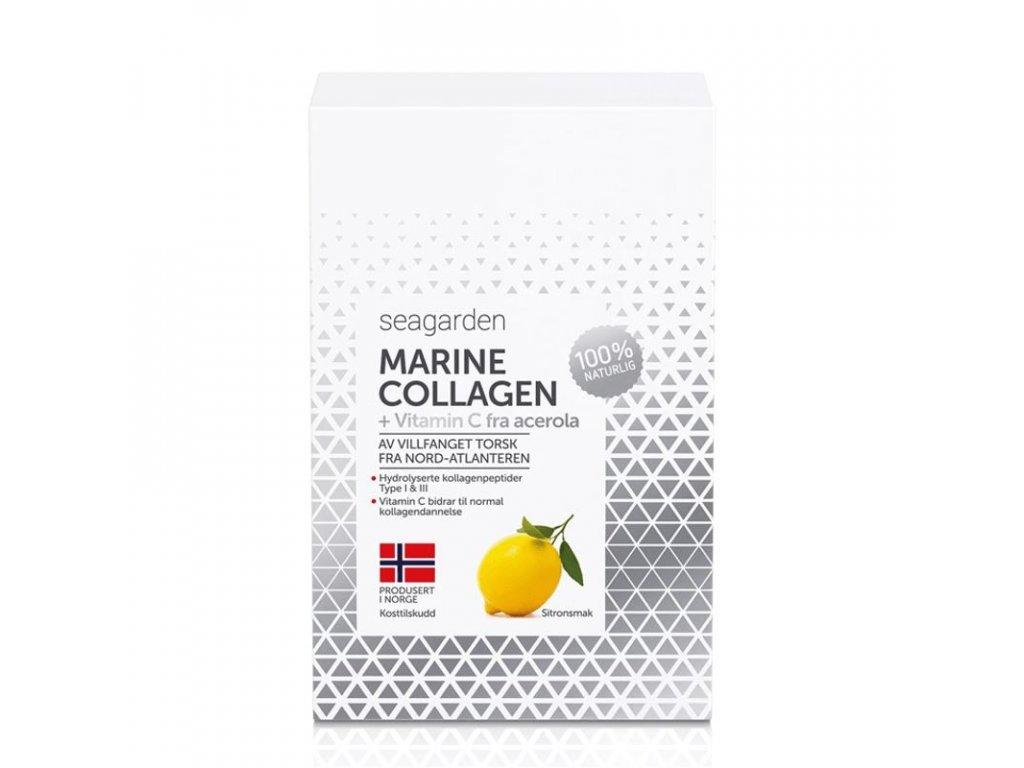 Seagarden Marine Collagen + Vitamin C 30 x 5g citron - rybí kolagen