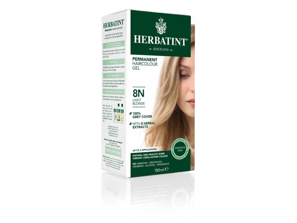 Herbatint permanentní barva na vlasy světlá blond 8N