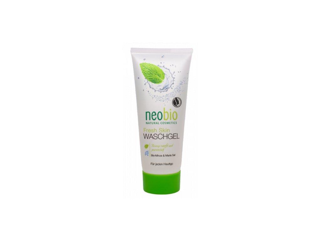 Neobio Fresh skin mycí gel na obličej bio máta & mořská sůl
