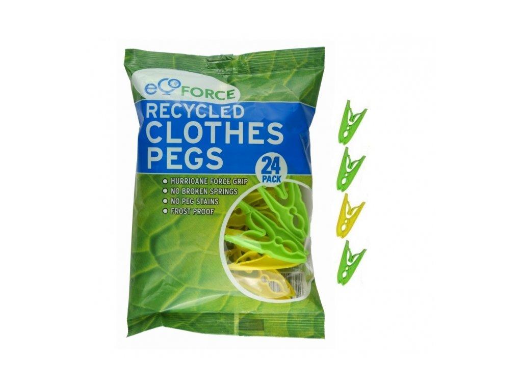 EcoForce Eko kolíčky na prádlo - 24ks