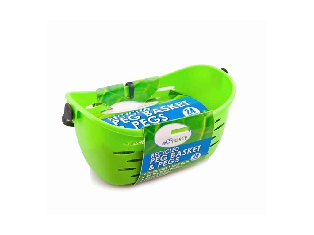 EcoForce závěsný košík na prádlo s kolíčky 24 ks
