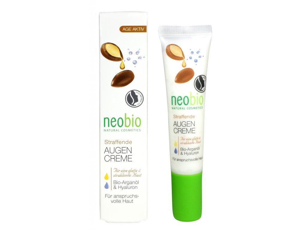 Neobio Zpevňující oční krém Age Active Bio Arganový olej & Hyaluron