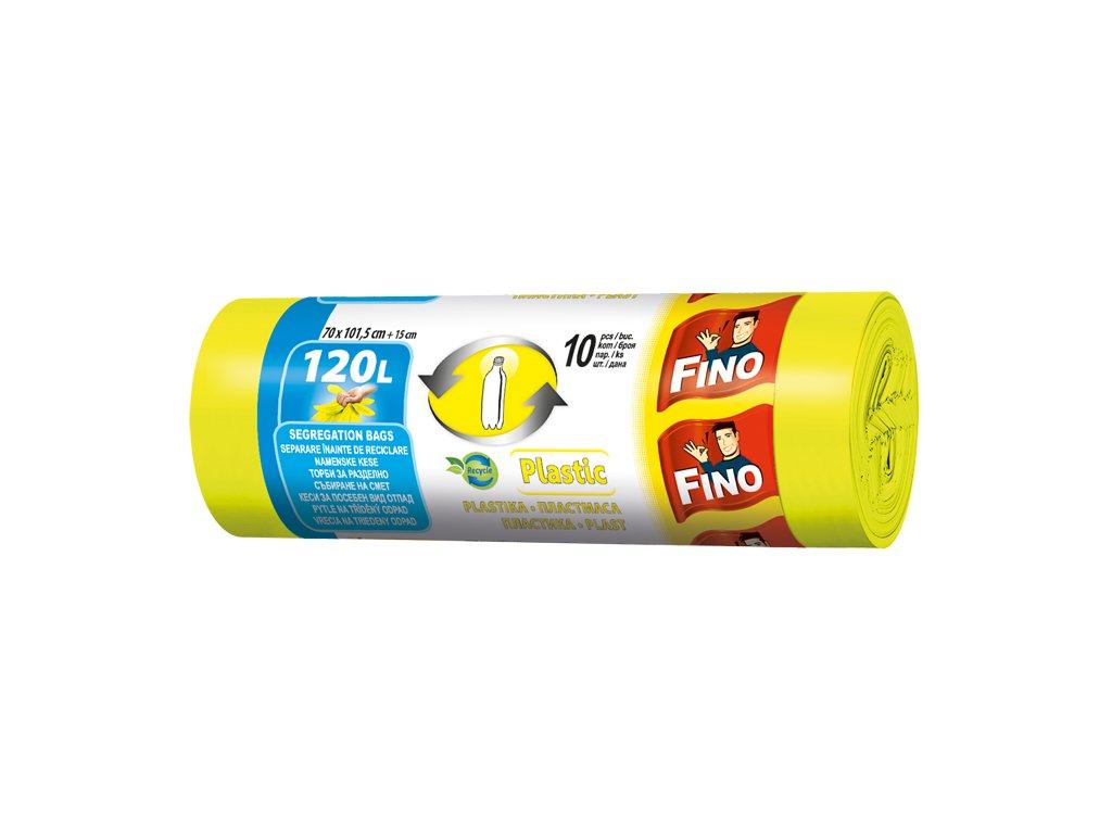Fino Pytle na odpad - na plast, 120 l - 10 ks
