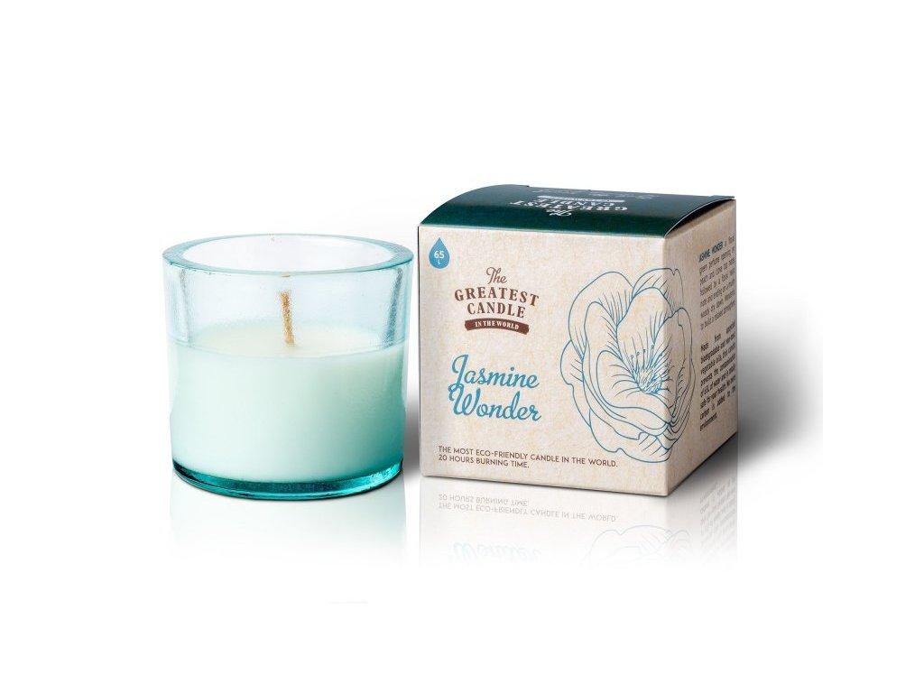 The Greatest Candle Vonná svíčka ve skle - jasmínový zázrak, 75g