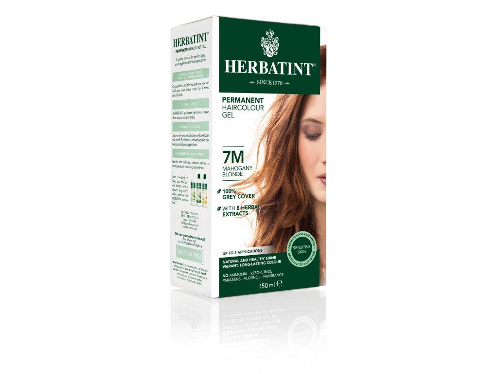 Herbatint permanentní barva na vlasy světle mahagonová blond 7M