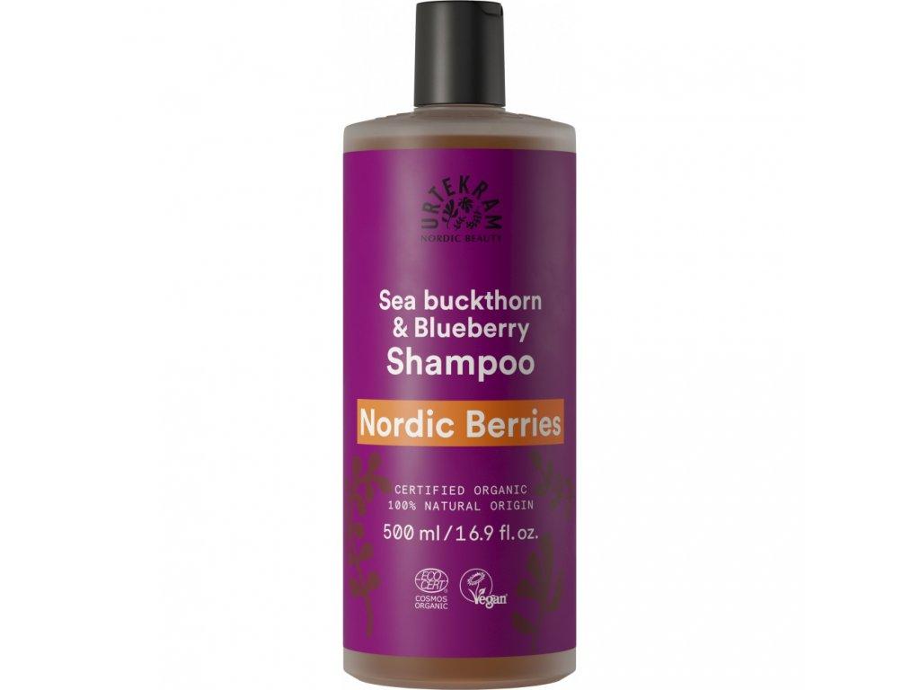 urtekram sampon nordic berries na poskozene vlasy 500ml bio