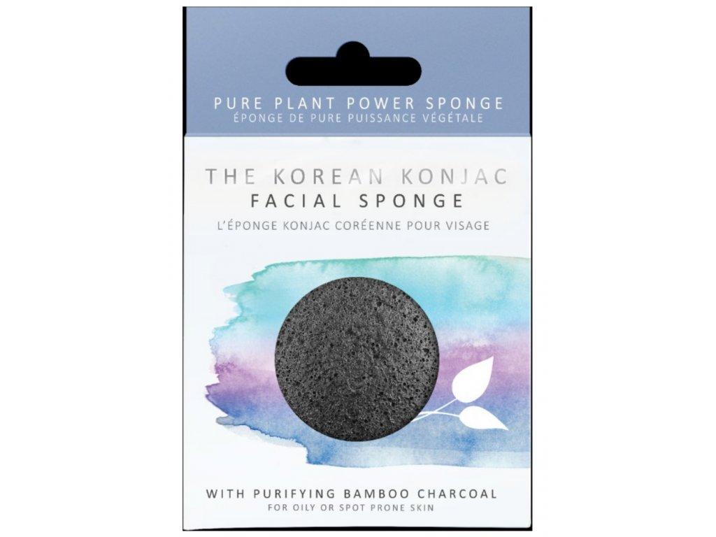 The Konjac Sponge Konjak houba s aktivním uhlím