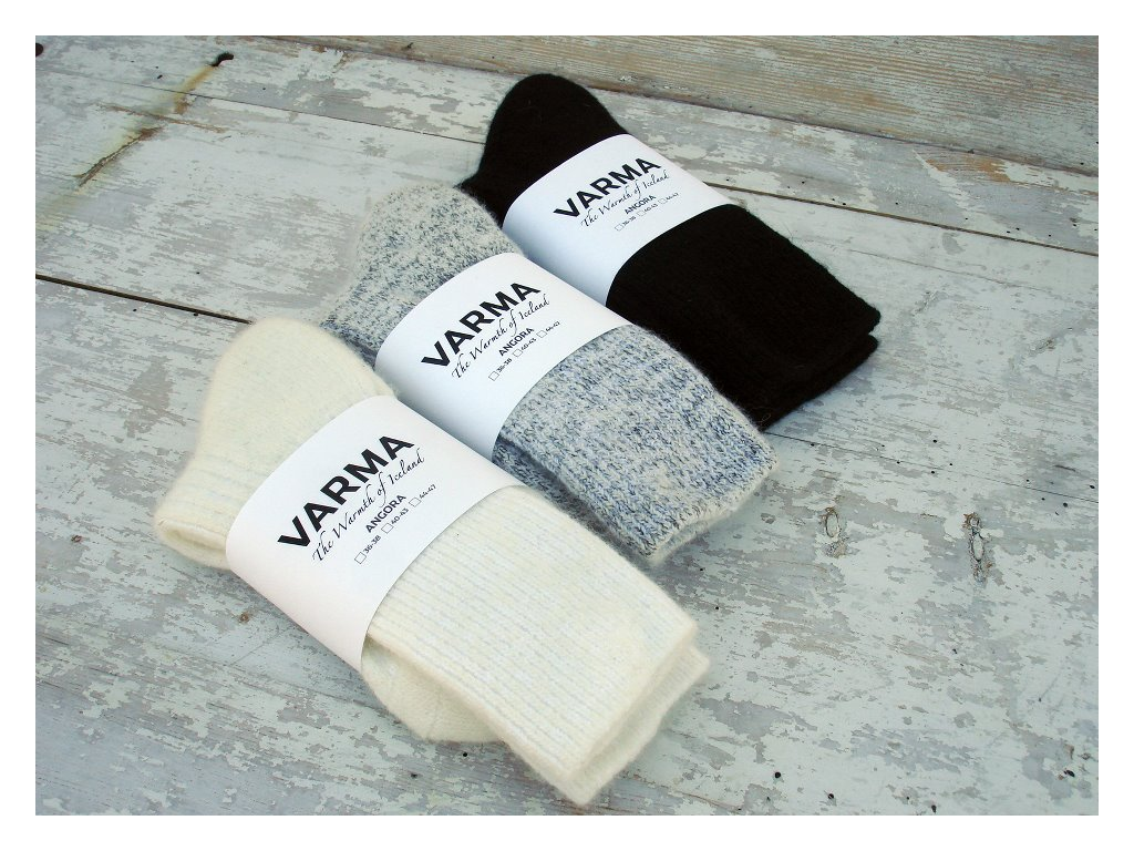 Varma vlněné ponožky šedý melír, velikost 40-43