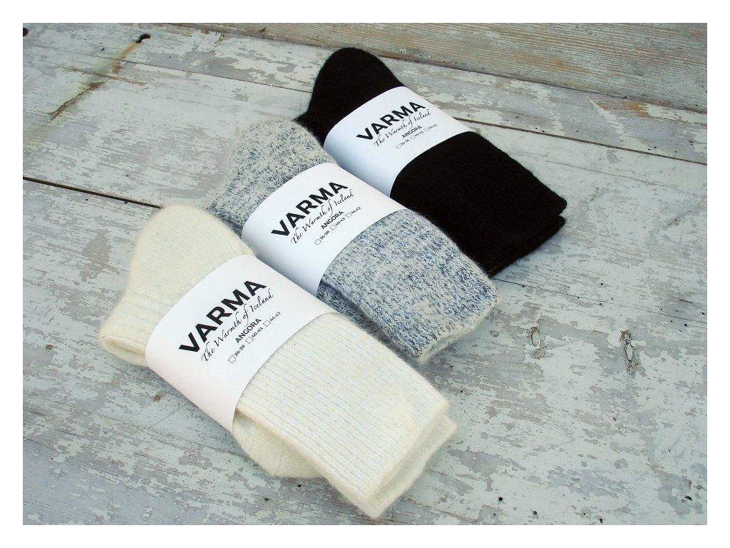 Varma vlněné ponožky černé, velikost 40-43