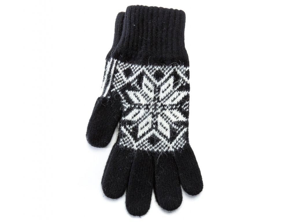 Varma Vlněné rukavice pánské, černé