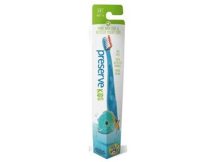 Preserve Dětský zubní kartáček (soft), azurový