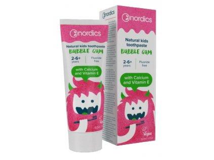 Nordics Přírodní zubní pasta pro děti s příchutí žvýkačky