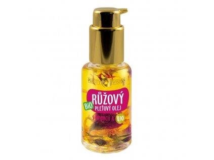 Purity Vision bio růžový pleťový olej s opuncií a Q10, 45ml