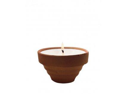 The Greatest Candle Vonná svíčka Terracotta- citronela - repelentní svíčka odpuzující hmyz