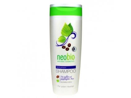 Neobio šampon na zvětšení objemu vlasů bio kofein & bříza