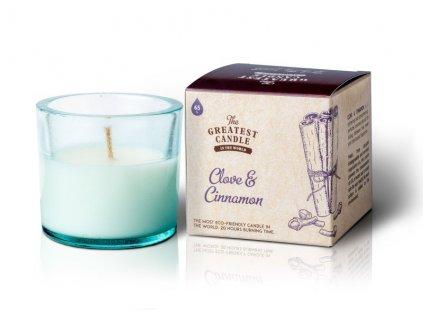 The Greatest Candle Vonná svíčka ve skle - hřebíček a skořice, 75g