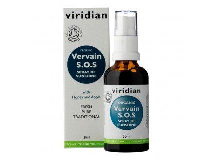 Viridian Vervain Bio S.O.S. sprej, 50ml