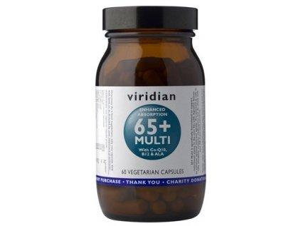 Viridian Multivitamín 65+, 60 kapslí