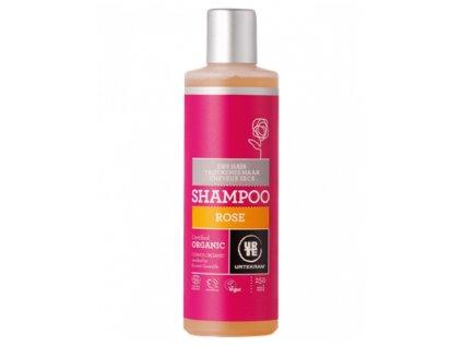 Urtekram Šampon růžový na suché vlasy, 250ml